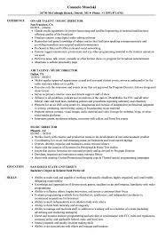Sample Musician Resume Music Director Resume Samples Velvet Jobs