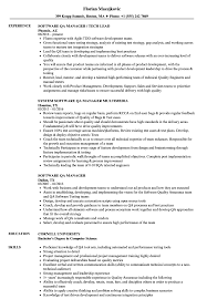 Software Qa Manager Resumes Software Qa Manager Resume Samples Velvet Jobs
