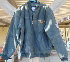 details about rare usmc united states marine corps black suede leather er jacket sz xl