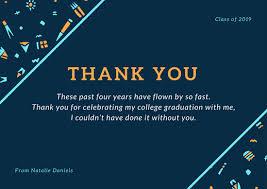 Customize 39 Graduation Thank You Card Templates Online Canva