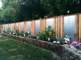 metal and wood fence sheet metal fence sheet metal and wood fence combination sheet metal privacy metal and wood fence