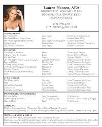 acting resume sample free acting resume template pdf by lauren hansen