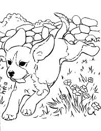 Puppy Coloring Page Pages Puppies Free Of Cute Monextelco