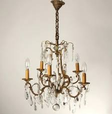 vintage brass chandelier with crystals antique brass chandelier with crystals antique brass crystal chandelier made in spain