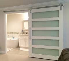 modern barn doors. Satin Glass 5-Lite Modern Barn Doors D