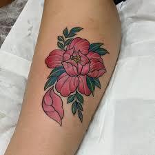 Peony Design Jakarta Peony Flower Tattoo Coverup Done On A Scar Japanese