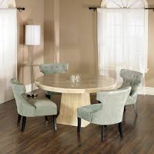 Round Stone Top Dining Table Granite Lovely Set With Cool Chandelier