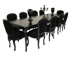 dining table 10 chairs. large view of carved dining table \u0026 10 chairs black e