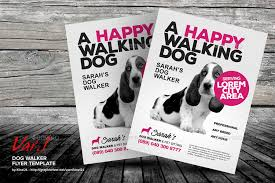 Lost Pet Flyer Maker Cool Dog Walker Flyer Templates By Kinzi48 GraphicRiver