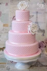 pink wedding cake by rosie shaw bristol