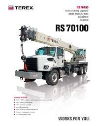 Rs 70100 Terex Cranes Pdf Catalogs Technical