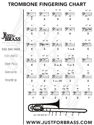 Mellophone Finger Chart Printable Trombone Fingering Chart Download Printable Pdf Templateroller