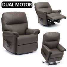 dark brown leather recliner chair. borg leather riser recliner chair - dual motor dark brown h