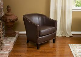 Carlton Brown Bonded Leather Club Chair Contemporary Living