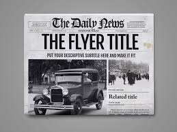 Newspaper Template For Photoshop Photoshop Newspaper Template Graphic By Ted Creative Fabrica