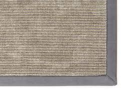 cipro custom made striped linen rug in grey colour with nubuck applied edge