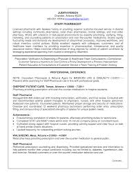 Licensed Pharmacist Resume Template Sample With Professional Job