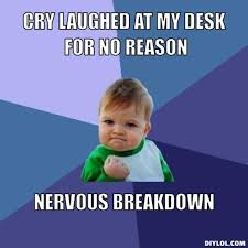DIYLOL - CRY LAUGHED AT MY DESK FOR NO REASON NERVOUS BREAKDOWN via Relatably.com