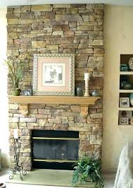 post faux rock fireplace diy river view in gallery ideas stone
