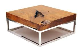 Natural Wood Coffee Tables  rustic table collection from Chista