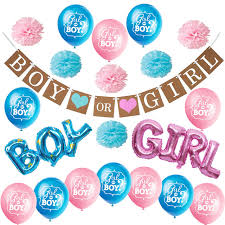 Boy Or Girl Baby Announcement Us 15 19 20 Off Zljq Gender Reveal Party Supplies Kit Boy Or Girl Baby Shower Decorations Pregnancy Announcement Boy Or Girl Banner Balloons In