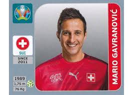 62 - Mario Gavranović (Switzerland) - Panini Euro 2020 Pearl Edition Single  Sticker