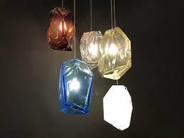 lasvit crystal rock pendant light