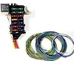 amazon com street rod universal 14 fuse 12 14 circuit wire street rod universal 14 fuse 12 14 circuit wire harness w fr rr