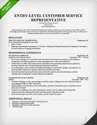 Customer Service Entry Level Resume Representative With Experience