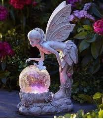 fairy statues garden lighting decoration