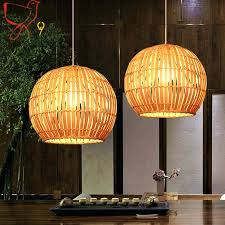country style bamboo pendant lights southeast handmade birdcages hanging lamp for restaurant coffee in from light ikea
