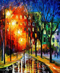 farewell to autumn 2 palette knife oil painting on canvas
