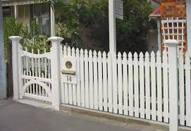 white fence ideas. Great White Fence Pickets With Mailbox And Gate For Front Yard Outdoor Design Ideas