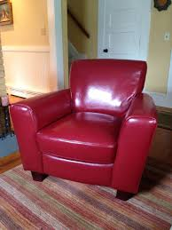 i always wanted a red leather chair bought this one at home goods a few