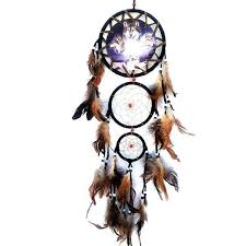 Eagle Feather Dream Catcher Amazing Wolf Bear Or Eagle Dream Catcher With Feathers Wall Hanging Decor