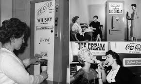 Evva Whiskey Vending Machine Delectable Vintage Vending Machines You Never Knew Existed Daily Mail Online