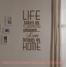 Wall Decor Quotes Gorgeous Love Brings Us Home Family Wall Decals Vinyl Lettering Art Wall