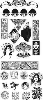 Kleurplaat Jugendstil Ladies Colouring Pictures Art Nouveau