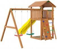 <b>Детская игровая площадка Jungle</b> Gym Cottage + Swing + Rock