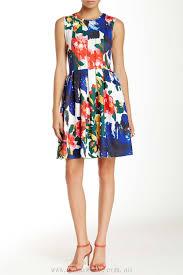 L Atiste Ld9463m Floral Print Scuba Dress Ystpn Color Print