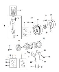 2007 chrysler 300 crankshaft pistons torque converter and drive plate diagram i2172044