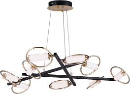 et2 e23279 93bksftg flare contemporary black soft gold led 44 nbsp lighting chandelier loading zoom
