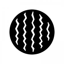 スイカの白黒シルエットイラスト 無料のaipng白黒シルエットイラスト