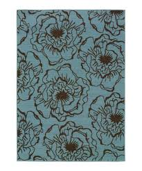 blue brown modish blossom hyrcania indoor outdoor rug