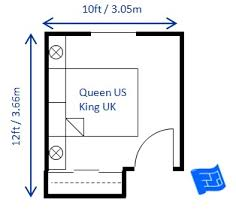 How Big Should A Bedroom Be U2013 Board U0026 VellumQueen Size Bedroom Dimensions
