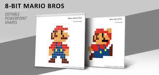 Pixel Character Template Free Pixel Mario Art Powerpoint Template Designhooks