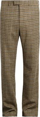 gucci pants. gucci checked straight leg wool trousers pants
