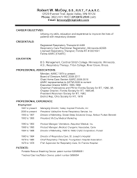 objectives for resume resume badak respiratory therapist resume sample