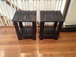 easy to make furniture ideas. DIY Pallet Side Table Easy To Make Furniture Ideas