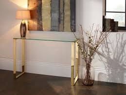 metal console table. asger glass top console table in steel, gold or rose metal frame t